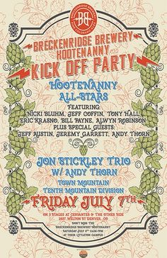 Hootenanny All-Stars ft Nicki Bluhm, Jeff Coffin (DMB), Eric Krasno, Bill Payne (Little Feat), Tony Hall (Dumpstaphunk) & others at Cervantes' on Friday July 7!