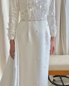 """TIARA AWATIF on Instagram: """"@tiaraawatifofficial modest wedding dress, this floor length dress features a floral lace bodice with elegant train and a semi-fitted…"""" Modest Wedding Dresses, Formal Dresses, Hijab Dress, Floor Length Dresses, Lace Bodice, Floral Lace, Train, Elegant, Instagram"""
