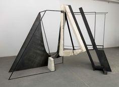 Jilaine Jones, Wonder World 2006  steel, concrete, rockboard, 144 x 48 x 94 inches Courtesy of the New York Studio School