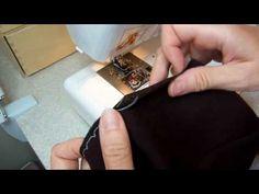 Потайной шов на швейной машине - YouTube