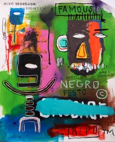 JEAN MICHEL BASQUIAT-signed on back More At FOSTERGINGER @ Pinterest