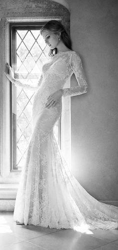 martina liana fall 2015 bridal dress with long sleeves