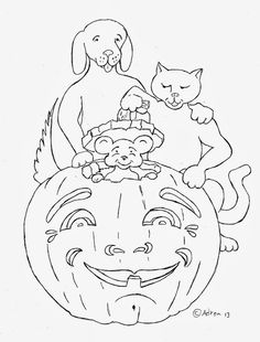 coloring pages for kids by mr adron mouse in pumpkin coloring page free - Pumpkin Coloring Template