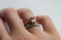Gemporia | Peach Morganite and Rose Gold Ring (via Bloglovin.com )