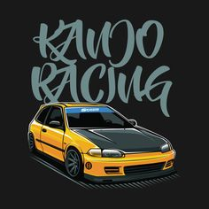 Check out this awesome 'Civic Kanjo Racing Spoon JDM Car' design on Civic Car, Honda Civic Hatchback, Honda Crx, Honda Civic Type R, Jdm Wallpaper, Car Illustration, Toyota Cars, Motorcycle Design, Nissan Skyline