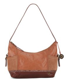 Look what I found on #zulily! Brown Glitter Kendra Leather Hobo by The Sak #zulilyfinds