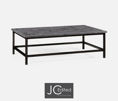 Jonathan Charles - Antique Dark Grey Rectangular Coffee Table - 491015-ADG