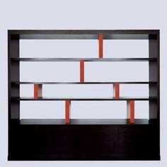 Saigon Bookshelf by Christian Liaigre Contemporary Shelving, Contemporary Cabinets, Modern Shelving, Contemporary Furniture, Wall Shelving Units, Shelving Systems, Bookcase Shelves, Bookcases, Hall Furniture