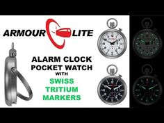 ArmourLite Alarm Clock Pocket Watch Video Instructions - YouTube