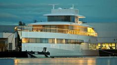 The 78m yacht #Venus, built for the late founder of Apple #Steve Jobs, was photographed on Thursday at #Feadship's De Vries yard in Aalsmeer, Holland. #superyacht