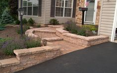 Walls & Walkway Design-for along our driveway and walkway.