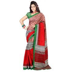 Chic Printed Casual Wear Art Silk Saree 12715a