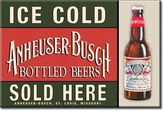 Anheuser Busch Ice Box MAGNET Budweiser Refrigerator Momcave Beer