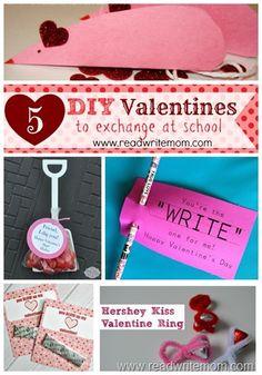 5 DIY easy school #Valentine cards