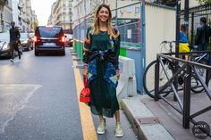 Ramya Giangola after the Altuzarra fashion show.