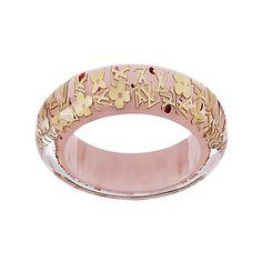 Louis Vuitton - Monogram Inclusion Bracelet GM - eLuxury ($420) ❤ liked on Polyvore featuring jewelry, bracelets, accessories, louis vuitton, pink, monogram jewelry, louis vuitton jewelry, louis vuitton bangles and monogram bangle