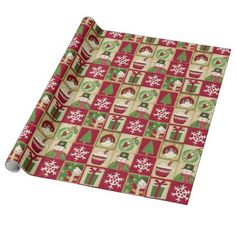 Xmas Wrapping Paper, Custom Wrapping Paper, Christmas Wrapping, Gift Wrapping, Christmas Blocks, Christmas Snowman, Cute Snowman, Snowmen, White Ornaments