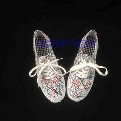 www.dripkids.com #dripkids #custom #fashion #art #artwork #splatterpaint #paint #shoes #artonshoes #shoeporn #streetwear #brand