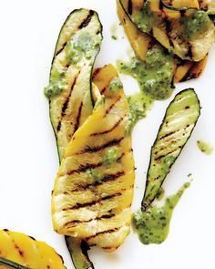 The dressing turns the grilled squash into a warm salad. This can be ...