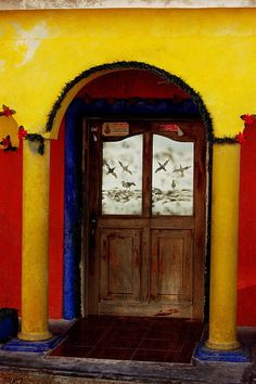 Colorful entry way