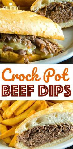 Crock Pot Beef Dips recipe from The Country Cook