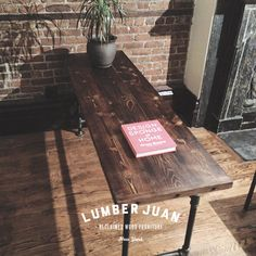 Reclaimed Wood Desk. $779.00, via Etsy.  I could make that!!!! Black metal piping and wood !!
