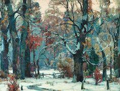 Painting by John Fabian Carlson (1875-1947) Swedish born American Artist.