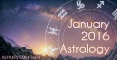 The astrology of January 2016 features  Mercury in retrograde, Jupiter, Saturn, Uranus, Pluto, and  Eris. As we slide into the new year we are treated to a large dose of outer planet interaction that ensures that the major changes of the past year are far from over. The old lunation cycle from mid-December had its kick-off with Mars opposite Uranus, and the new one that begins with the late Capricorn New Moon of the evening of January 9th takes place a few degrees from Pluto, as the square…