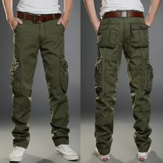 New Mens Tactical Overalls Pants Pocket Military Leisure Cargo Combat Trousers | eBay