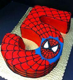 Pastel 5 años hombre araña