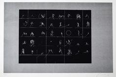 Emilio Scanavino - Alfabeto senza fine - Litografia a due colori