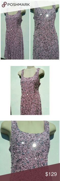 ADRIANNA PAPELL LILAC SEQUENCE DRESS SZ 6 NWOT! Gorgeous classy ADRIANNA PAPELL LILAC SEQUENCE DRESS  Hand made  Size 6 Adrianna Papell Dresses