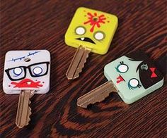 GAMAGO Zombikeys - If you are looking for a gift for the zombie enthusiast in your family, look no further than the GAMAGO Zombikeys. These zombie key covers are gr. Zombie Life, Zombie Head, Zombie Art, Zombies, Key Caps, Key Covers, Cool Inventions, Swinging Chair, Zombie Apocalypse
