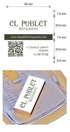 Propuesta diseño cajas de cerillas para El Poblet Restaurante en Valencia. Valencia, Money Clip, Match Boxes, Proposals, Restaurants, Money Clips
