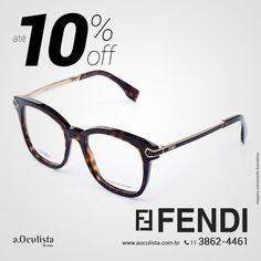 Óculos de Grau Fendi com Até 10% de desconto  Compre pelo site em Até 10x Sem Juros e frete grátis nas compras acima de R$400,00 👉 www.aoculista.com.br/fendi  #aoculista #fendi #glasses #sunglasses #eyeglasses #oculos
