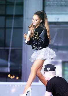 Image about ariana grande in queen by pokpak on We Heart It Ariana Grande Today, Ariana Grande Legs, Adriana Grande, Ariana Grande Fotos, Ariana Grande Outfits, Ariana Grande Pictures, Dangerous Woman, We Heart It, Celebrity Style