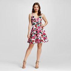 Women's Printed Fit & Flare Dress - XOXO (Juniors')