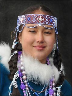 Native Siberian Koryak Smile from Kamchatka, Northeast Siberia