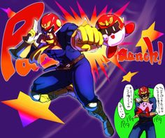 captain falcon of F-Zero  Kirby