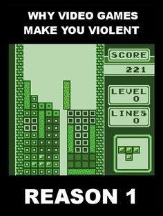 The reason video games make you violent...
