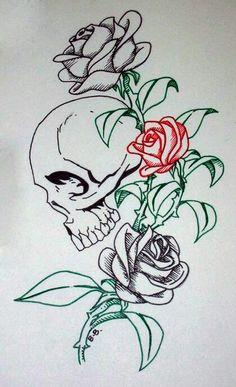 Bocetos Tattoo Blanco Y Negro