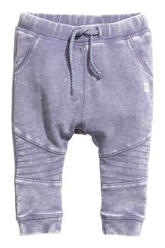 Bikerjoggers - Paars washed out - KINDEREN | H&M NL 1