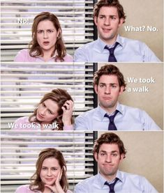 That end picture tho 😍😍 The Office Jim, Us Office, The Office Show, Office Cast, The Office Dwight, Office Jokes, The Office Humor, Funny Office Memes, Office Gifs