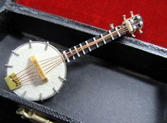 Banjo Brooch Pin Instrument Orchestra with Cute Box by miniblings, €9.99