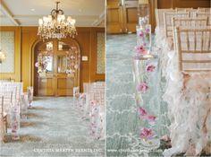 flower arrangements for wedding aisle  | love the aisle flower arrangement
