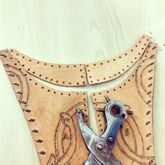 Finishing punching holes #leather top of #season3 #Cosplay #Lagertha #vikings #costume