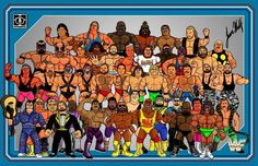 Hasbro Wrestlers. Some actual. Some Not.