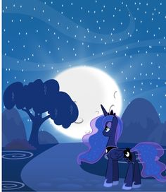 Princess Luna - Night ride by abydos91.deviantart.com on @deviantART