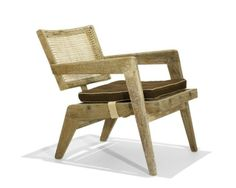 Pierre Jeanneret / armchair from Chandigarh < Modern Design, 31 March 2011 < Auctions Indian Furniture, Wood Furniture, Modern Furniture, Furniture Design, Outdoor Furniture, Antique Furniture, Furniture Ideas, Pierre Jeanneret, Wood Design