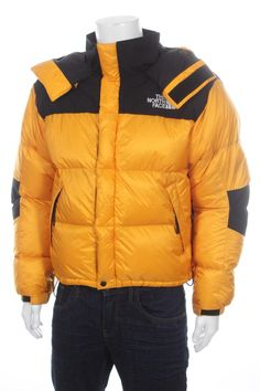 north face puffer jacket yellow
